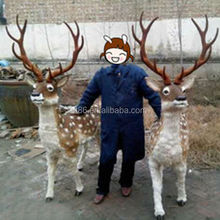 HIgh quality natural lifesize deer large outdoor christmas decorations