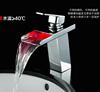 Fashion Bathboom Waterfall Led Faucet