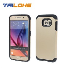 2 in1 PC TPU phone cover case for samsung galaxy s6 case