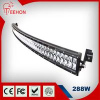 "Teehon Wholesale 50"" 288W Curved 4x4 Car Off Road LED Light Bar"