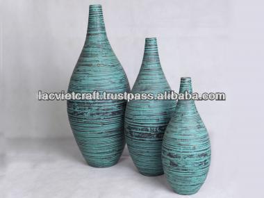 высокое качество дучшие продажи закрученная бамбук древнем синей вазе из вьетнама