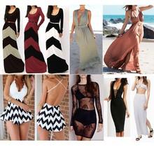 Custom design latest fashion lady dress factory long sleeve casual woman dress