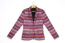 High Quality Jacquard Formal Stripe Women Blazer