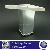 Aluminum Square Cabinet Leg with Plastic Adjustable Base