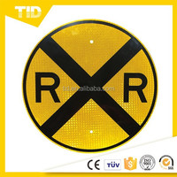 TID,18 x 18 - High Intensity Prismatic (HIP) Grade Reflective Compliant Railroad Crossing (RXR) Round Signs