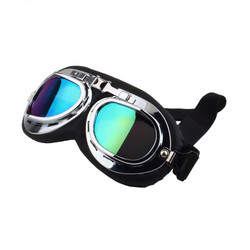 Vintage Anti-UV Goggles Motorcycle Scooter Pilot Motocross Goggles Glasses Colorful