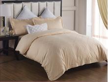 European style Gold color 100% cotton jacquard beddingset