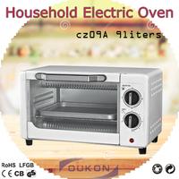 CZ09A white electric mini oven grill, bread maker toaster oven, small baking oven