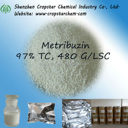 High Quality Herbicide Metribuzin 97% TC, 480 G/LSC Supplier