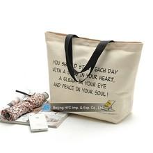 2015 Custom patterns hot sale fashion canvas shopping totes bag shopping printed eco beach bag tote