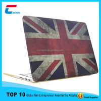 Retro USA Flag Patterns For Macbook Case Hard Shell Cover Case , Custom Made for macbook hard case
