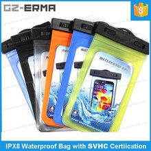 PVC Waterproof Mobile Phone Pouch for up to 5.7 inch Smartphone