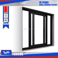 Price of aluminum sliding window with triple glass