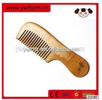 Custom Wood personalized hair comb