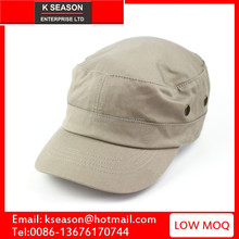 Wholesale hat suppliers offer cadet castro style cotton rounded Flat Top military Cap