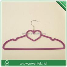velvet hanger ship to Amazon , flocked clothes hanger for desplay , velvet hanger sales on line