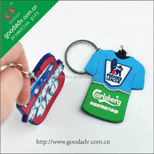 Wholesale promotional products 3d logo new york keychain wholesale