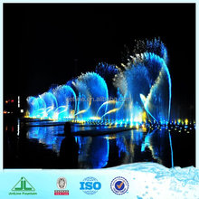 Large outdoor water fountains, with underwater led lights for fountains