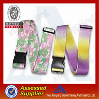 Top quality cheap cool cute yiwu Luggage Belt with plastic safety buckle