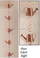Garden Decorative Copper Watering Can Rain Chain