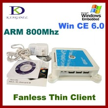 Network Thin Client mini pc share Terminal with ARM 800Mhz CPU,32 Bit, Microphone, Touchscreen, Win CE 6.0 server for Multi user