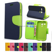 Colorful book style phone flip leather case for Samsung Galaxy s6790 with stand function and card slot