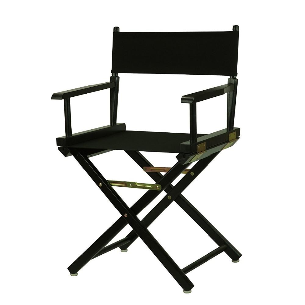 18 pouce bar durable en bois pliant noir directeur chaise for 18 rue de la chaise