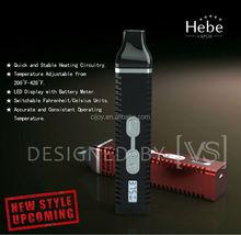 Latest Portable Dry Herb vaporizer pen with temperature display Hebe vapor titan2 herbal vaporizer