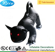 DJ-TL-036 Halloween party inflatable airblown decoration black devil dog 4 to 8 feet