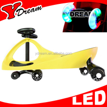 CE SGS Kids And Adult Swing car plasma car twist car With LED PU Wheels With OEM Color