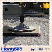 Lightweight and No warping after bending crane outrigger pads