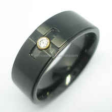 fashion mens engraved cross stainless steel rings , cheap wholesale stainless steel jewelry