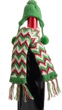 Christmas Wine Bottle Cover Cap And Scarf Decoration Hand knitted Super Gift