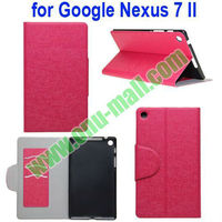 Magnetic Leather flip Cover case for Google Nexus 7 II with Card Slots and Stand