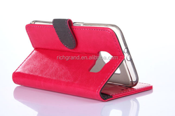 Wallet Style magnet Flip Stand Leather Case for samsung galaxy S6