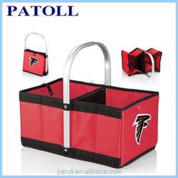Promotional manufacture fitness foldable wholesale thermal plastic wine bottle cooler bags,six pack cooler bags
