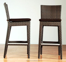Rattan cafe & bistro furniture outdoor bar chair and stool MB-C6