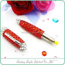 crystallized gift metal crystal body pen diamond jewelled crystal metal ball pen