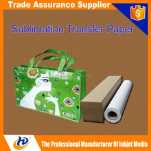 TOP selling dye Sublimation transfer paper factory in China heat transfer release paper