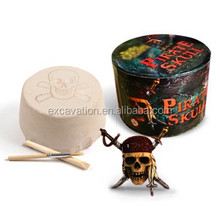 Archaeology Dig and Discover kit toy of Pirate Skull fridge magnets dig kit, 4 assorted, 24pcs per inner