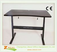 metal frame in adjustable height table 3 legs electric tables/desks without modesty panel