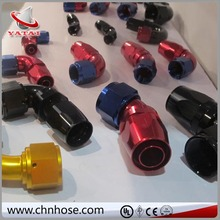 Factory price 90 Degree Push On Hose End in black color aluminium fitting