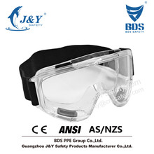 2015 HOT Sales Anti-Fog Approved Safety Wide-Vision Lab hiking goggles Concealer Smoke Anti-Fog Dual Mold Safety Goggle
