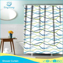 Polyester Shower Curtain Bright Ripple Curtains