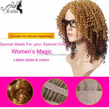 Most popular top kanakalon kindy twist synthetic hair wigs, wholesale afro-b hair