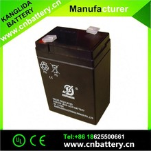 rechargeable sealed lead acid battery 6v4ah maintenance free
