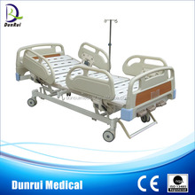 PP Side Rail 3 Crank Patient Manual Medical Bed For Sale