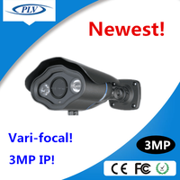 onvif h.264 bullet array led 3mp ip webcam p2p ip cam supporting mobile monitoring(iPhone, Android, etc) and network browsers