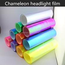 Europe USA Hot-selling 30cm*9m Size Chameleon Headlight Car Wrap Vinyl Film
