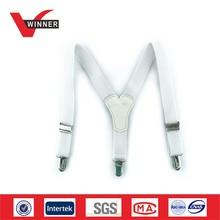 White elastic baby suspenders